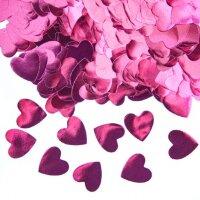 Конфетти фольга Сердце, Розовый, Металлик, 1,5 см, 50 г.