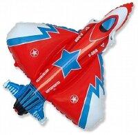 Шар (13''/33 см) Мини-фигура, Истребитель, Красный, 5 шт.