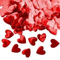 Конфетти фольга Сердце, Красный, Металлик, 1,5 см, 50 г.