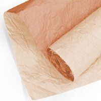 Упаковочная жатая бумага (0,7*5 м) Эколюкс, Кофейный/Персиковый, 1 шт.
