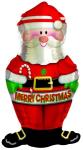 Шар (12''/30 см) Мини-фигура, Дед Мороз
