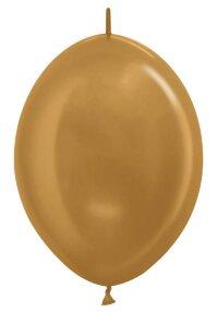 Линколун (12''/30 см) Золото яркое (570), металлик, 100 шт.