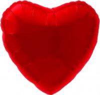 Набор шаров с клапаном (9''/23 см) Мини-сердце, Красный, 5 шт. в упак.