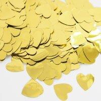 Конфетти фольга Сердце, Золото, Металлик, 1,5 см, 50 г.