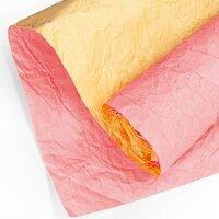 Упаковочная бумага (0,7*5 м) Эколюкс, Коралловый/Желтый, 1 шт.