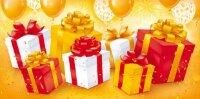 Конверты для денег, Подарки, Золото, 10 шт.