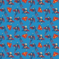 Упаковочная бумага (0,7*1 м) Супермен, Синий, 2 шт.