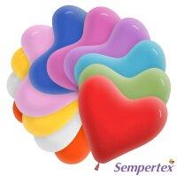Сердце (6''/15 см) Ассорти, пастель, 100 шт.