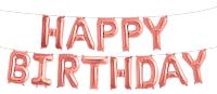 """Набор шаров-букв (16''/41 см) Мини-Надпись """"Happy Birthday"""", Розовое Золото, 1 шт. в упак."""
