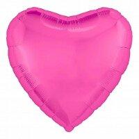Шар (18''/46 см) Сердце, Розовый пион, 1 шт.