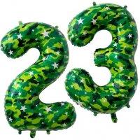 Набор шаров (34''/86 см) Цифра, 23, Камуфляж, 2 шт. в упак.