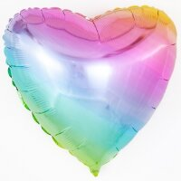 Шар (32''/81 см) Сердце, Нежная радуга, Градиент, 1 шт.