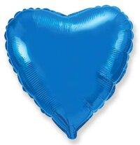 Шар (18''/46 см) Сердце, Синий, 1 шт.