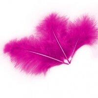 Перья, Ярко-розовый, 10*15 см, 30 шт.