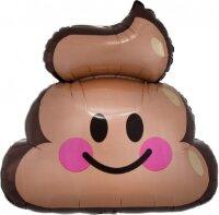 Шар (22''/56 см) Фигура, Смайл, Шоколадное мороженое, 1 шт.