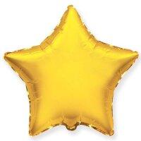 Шар (9''/23 см) Мини-звезда, Золото, 5 шт.