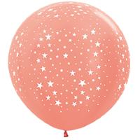 Шар (36''/91 см) Звезды, Розовое золото (568), металлик, 5 ст, 1 шт.