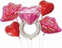 Набор шаров (32''/81 см) Признание в любви, Красный, 5 шт. в упак.