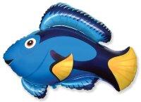 Шар (22''/56 см) Фигура, Рыба, Флаговый хирург, Голубой, 1 шт.