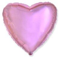 Шар (18''/46 см) Сердце, Светло-розовый, 1 шт.